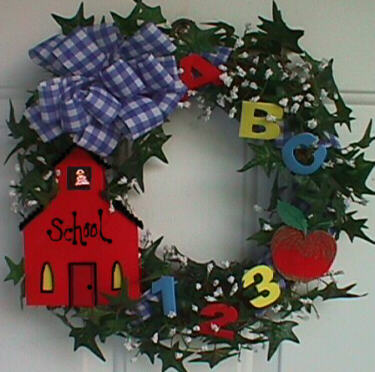 Back to School Wreath by Crafty Bug