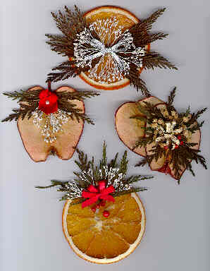 Dried fruit ornaments wreaths and swags - Deco de noel naturelle ...